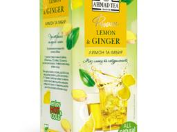 Чай Ahmad Tea Lemon & Ginger, пакетики, 40 г