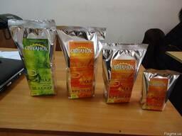 Чай черный байховый пакетированный ТМ Світанок