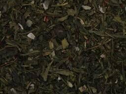 Чай зеленый Сакура (Сенча, Лунг Чин, листья земляники,вишня)