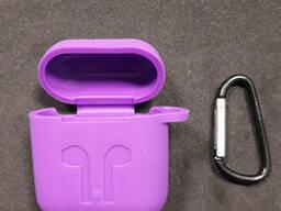 Чехол для наушников case Apple Airpods фиолетовый