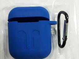 Чехол для наушников case Apple Airpods синий
