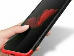 Чехол iPhone 10 Твёрдый корпус с защитным стеклом
