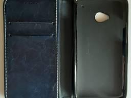 Чехол-книжка силиконовый бампер - смартфона HTC One M7 801e.