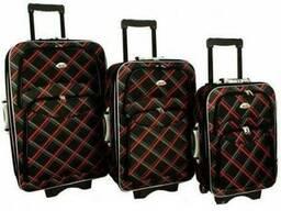 Чемодан сумка 773 набор 3 штуки черная-крата