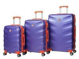 Чемодан сумка дорожный Bonro Next набор 3 штуки фиолетовый