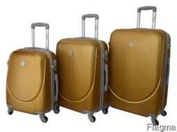 Чемодан сумка дорожный Bonro Smile набор 3 штуки золотой