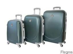Чемодан сумка дорожный Bonro Smile набор 3 штуки смарагдовый
