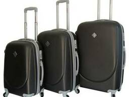 Чемодан сумка дорожный Bonro Smile набор 3 штуки темно-серый