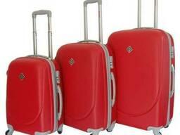 Чемодан сумка дорожный Bonro Smile набор 3 штуки красный