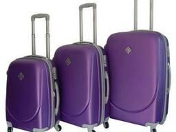 Чемодан сумка дорожный Bonro Smile набор 3 штуки фиолетовый