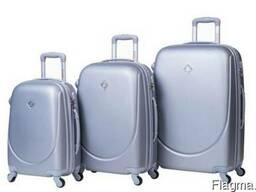 Чемодан сумка дорожный Bonro Smile набор 3 штуки серебряный