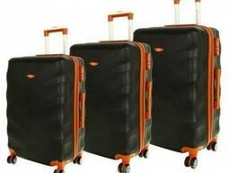 Чемодан сумка Exclusive набор 3 штуки черный