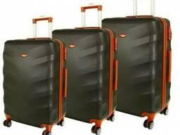 Чемодан сумка Exclusive набор 3 штуки графит