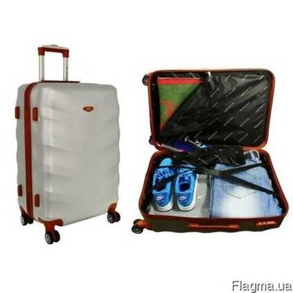 Дорожный чемодан сумка Exclusive набор 3 штуки шампан