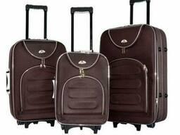Чемодан сумка текстильный Bonro набор 3 штуки Цвет: coffee