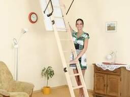 Чердачная лестница Oman Termo PS с поручнем 120х70 см