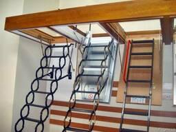 Чердачные лестницы металлические