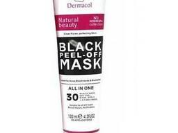 Черная маска для лица Dermacol Black Peel Off Mask против угрей и черных точек. ..