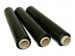 Черная стрейч пленка 20 мк 1,2 кг