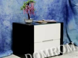 Черно-белая тумбочка «ОРЕО Классик» из массива клена в Одесс