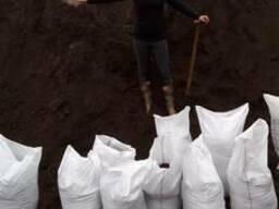 Чернозем в мешках, грунт плодородны
