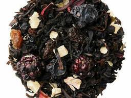 Черный ягодный чай с черникой, смородиной, малиной. ..