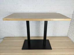 """Черные ножки из металла """"DUO"""" для стола опоры для стола в кафе 8мм"""