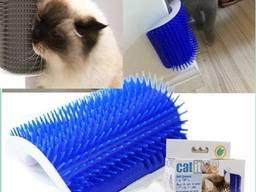Чесалка щетка угловая для кошек кота, массажер для животных, Зоотовары