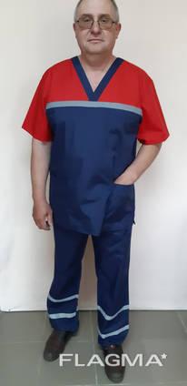 Чоловіча форма для робітників швидкої допомоги красная кокет