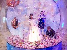 Прозора сфера, диво куля, шоу куля, snow globe
