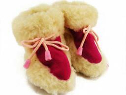 Чуни пинетки из овчины детские со шнурками 1, 5 года (22. ..