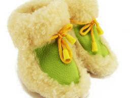 Чуни пинетки из овчины детские со шнурками 1,5 года (22 размер)