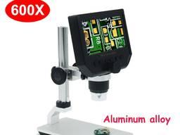 """Микроскоп G600 цифровой с монитором 4.3"""" и увеличением 600х на алюминиевом штативе"""
