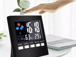 Цифровой термометр гигрометр 2159T с подсветкой, часами, будильником и календарем