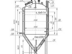 ЦКТ объемом 1 м3 из нержавеющей стали