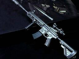 Cнайперская винтовка из игры PUBG M416 Металлический брелок