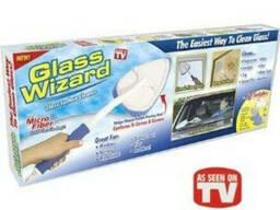 Щітка Glass Wizard для вікон і скла, швабра для дзеркала Гле