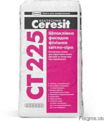 """CT-225 25 кг """"Ceresit"""" Шпаклёвка фасадная финишная св.серая"""