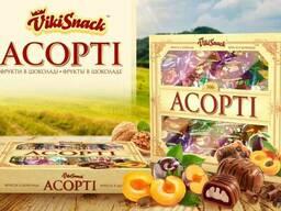 Цукерки Асорті 700г из 7ми видов фруктов в шоколаде