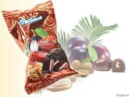 Цукерки Фінік чорнослив з горіхом в шоколаді 1. 5кг