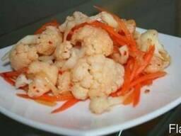Цветная капуста с морковкой по-корейски