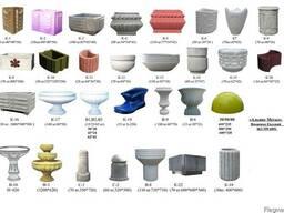 Цветочницы, вазы, столбики и урны ж/б