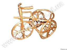 """Цветочник-подставка """"велосипед"""" из лозы 263-34"""