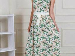 Цветочное женское платье в пол 44-50 , доставка по Украине
