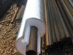 D 50 мм, толщ 50 мм, плот 35 фольгир утеплитель для труб.