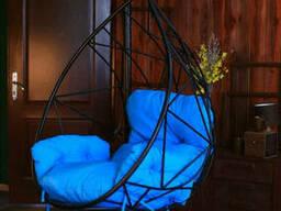 Дачне підвісне крісло кокон з металу