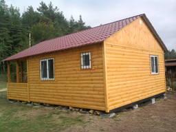 Дачный дом сборно- разборный6 Х 10 со встроенной террасой