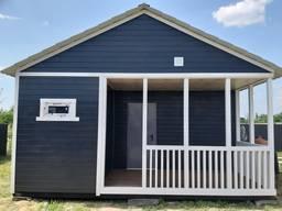 Дачный домик 6 х 8 со встроенной террасой. Новенький.