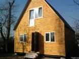 Дачный домик 6м х 6м , 2 этажа с крыльцом из блокхауса - фото 2