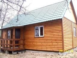 Дачный домик сборно- разборный 6 Х 9 с крыльцом из б/хауса